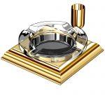 Cenicero de cristal y oro 23K El Casco M-760 CT
