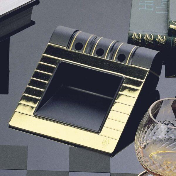 Portanotas cromado y negro con portalápices El Casco
