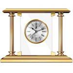 Reloj de sobremesa con acabado en oro El Casco