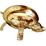Pisapapeles dorado en forma de tortuga con timbre
