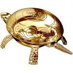 Timbre Pisapapeles de oro con forma de tortuga